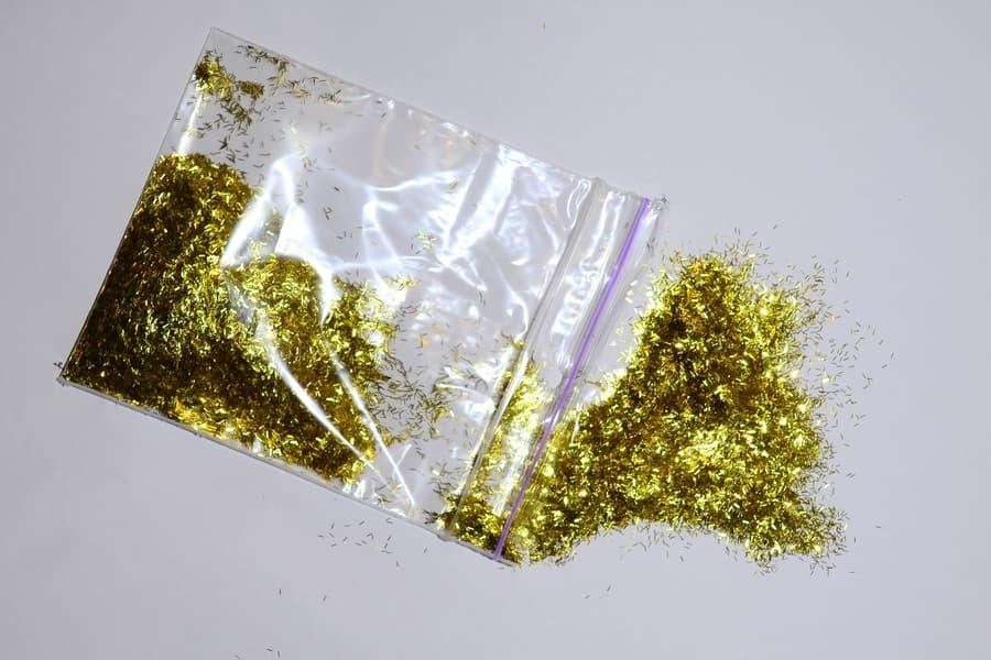 Блискітки золото смужка ТМ Silk Plaster - декоративні добавки