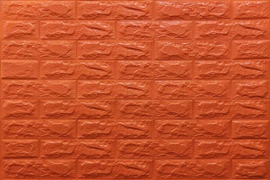Самоклейка декоративна 3D панель  07-7 під помаранчевий цегла 700x770x7мм купити в Україні - БудБум
