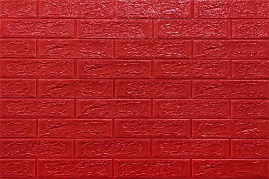Самоклейка декоративна 3D панель 08-5 під червону цеглу 700x770x5мм купити в Україні - БудБум