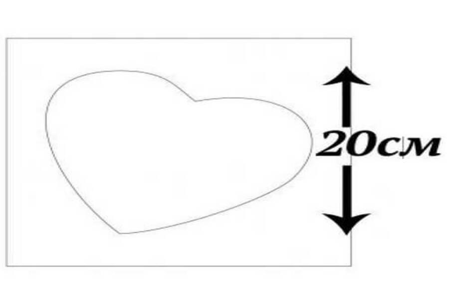 Купити трафарет Серце 20х20 см, матеріал прозорий пластик.