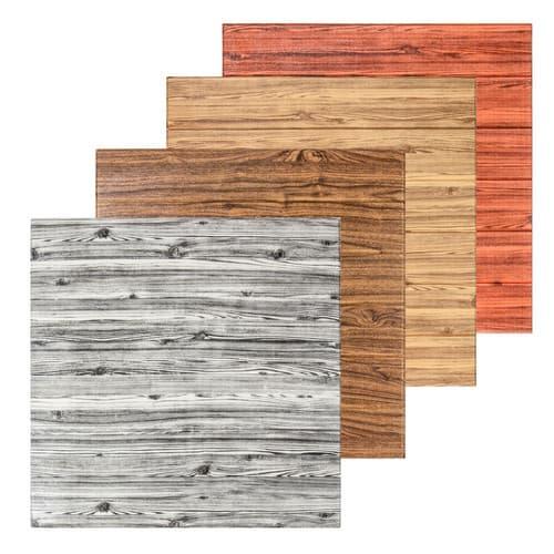 Самоклеючі панелі 3D під дерево - вдалий варіант для сучасного оформлення стін.