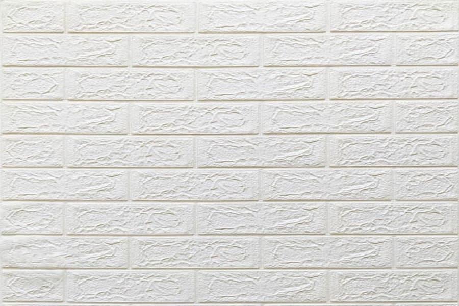 Самоклейка декоративна 3D панель 01-5 під білу цеглу 700x770x5мм купити в Україні - БудБум