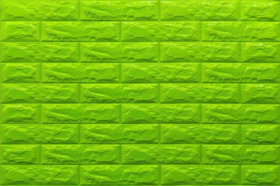 Самоклейка декоративна 3D панель 013-7 під зелену цеглу 700x770x7мм купити в Україні - БудБум