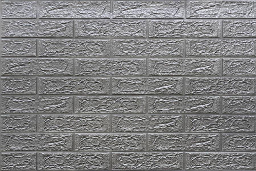 Самоклейка декоративна 3D панель 017-5 під цеглу срібло 700x770x5мм купити в Україні - БудБум