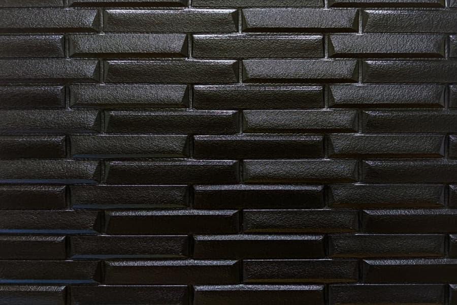 Купити самоклеюча декоративна 3D панель 038 чорна кладка в Україні. Замов зараз. Доступні ціни інтернет магазин БудБум.