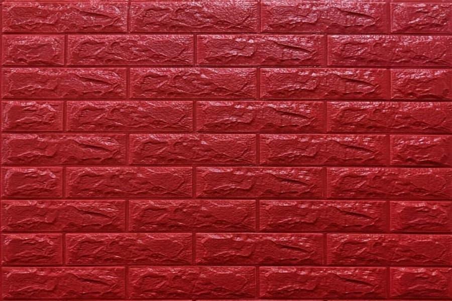 Самоклейка декоративна 3D панель 08-7 під червону цеглу 700x770x7мм купити в Україні - БудБум