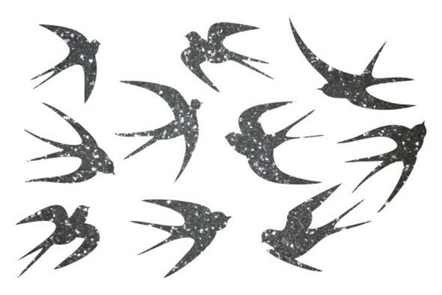 Купити Декор з рідких шпалер Ластівки 2 набір 10 шт