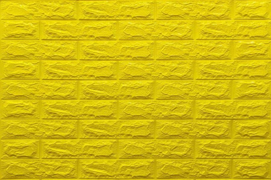 Самоклейка декоративна 3D панель 010-7 під жовта цегла 700x770x7мм купити в Україні - БудБум