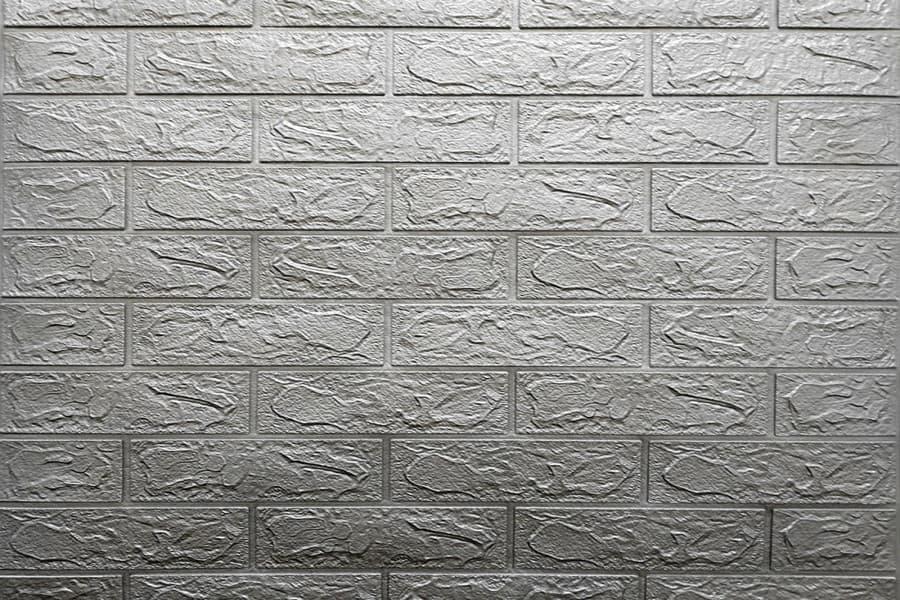 Самоклеящаяся декоративна 3D панель 017-3 під срібну цеглу 700x770x3мм купити в Україні - БудБум