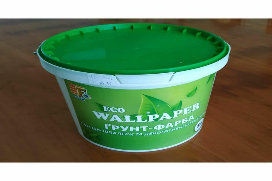 Грунт-фарба  Wallpaper Eco - 5л  біла глибокого проникнення водовідштовхувальна