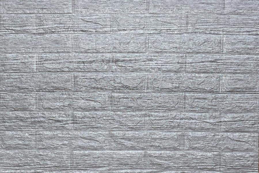 Самоклейка декоративна 3D панель 183 під цеглу сіра смужка 700х770х5мм купити в Україні - БудБум