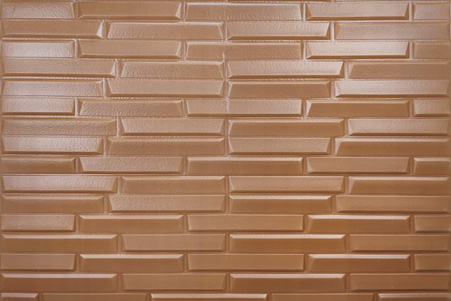 Купити самоклеюча декоративна 3D панель 033 коричнева кладка в Україні. Замов зараз. Доступні ціни інтернет магазин БудБум.