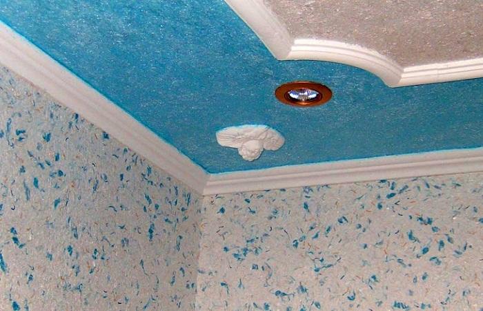 Рідкі шпалери для стелі