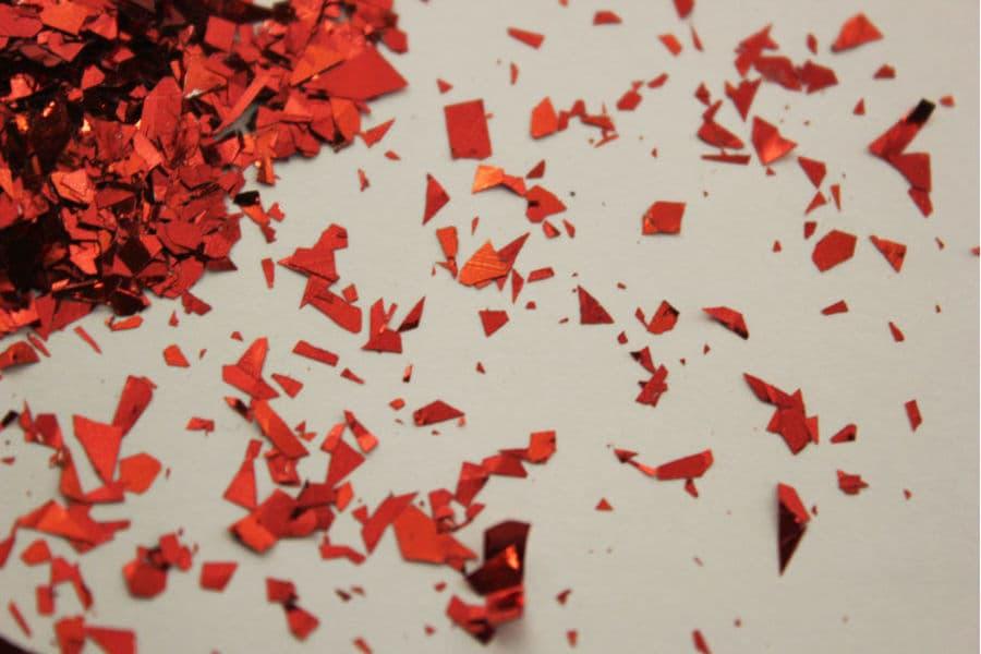 Блиск червоний Рваний 038 добавка до рідких шпалер Макс-Колор. Купити гліттери (блискітки) для декорування інтер'єру. Відмінна якість. Усе в наявності. Швидка доставка по Україні. Доступні ціни.