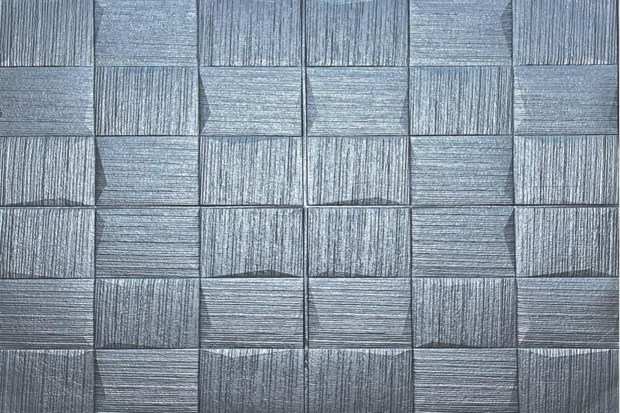 Самоклейка декоративна 3D панель 186 срібло настінна-стельова купити в Україні - БудБум