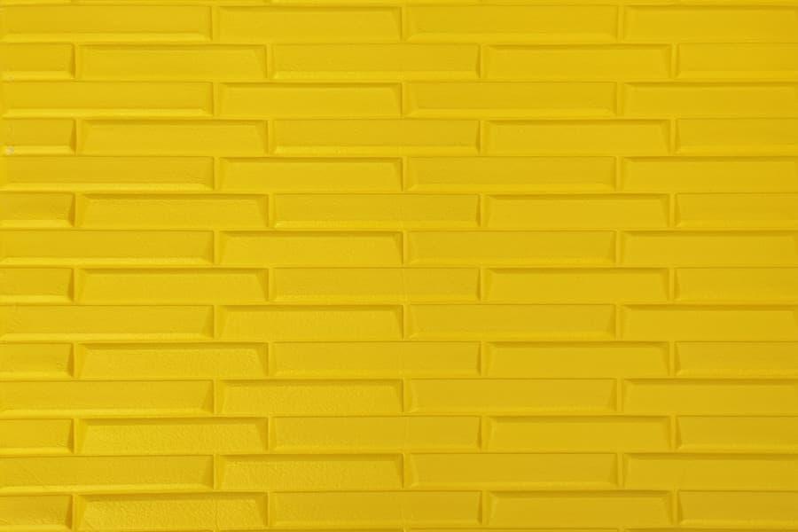 Купити самоклеюча декоративна 3D панель 037 жовта кладка в Україні. Замов зараз. Доступні ціни інтернет магазин БудБум.