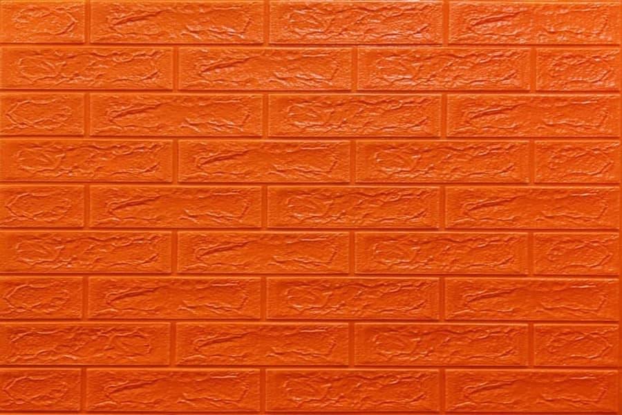 Самоклейка декоративна 3D панель 07-5 під помаранчевий цегла 700x770x5мм купити в Україні - БудБум