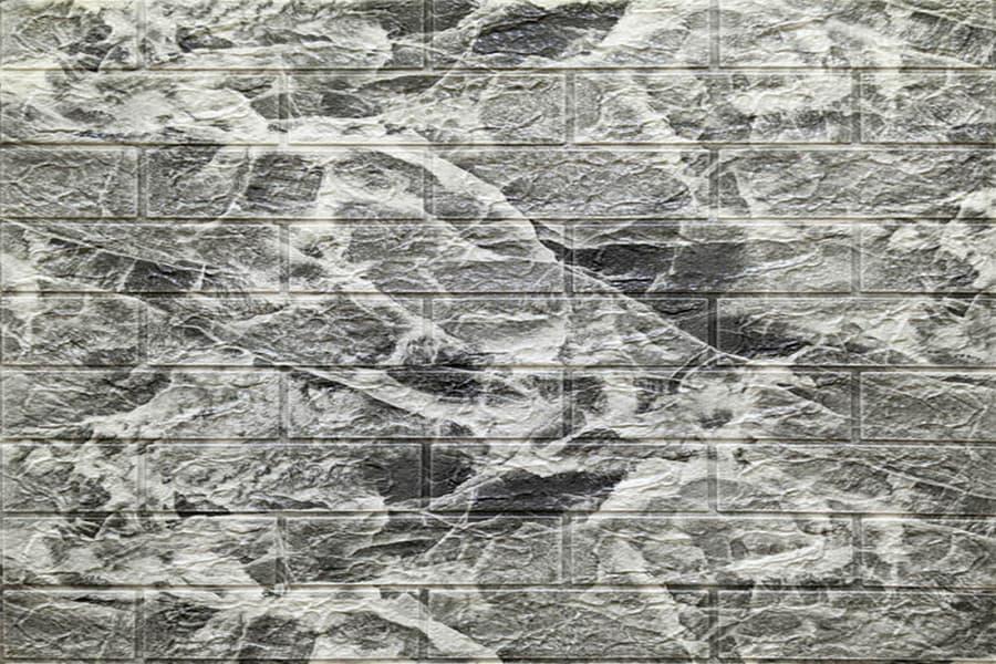 Самоклейка 3D панель 061 чорний мармур 700x770x5мм купити Київ в Україні - БудБум