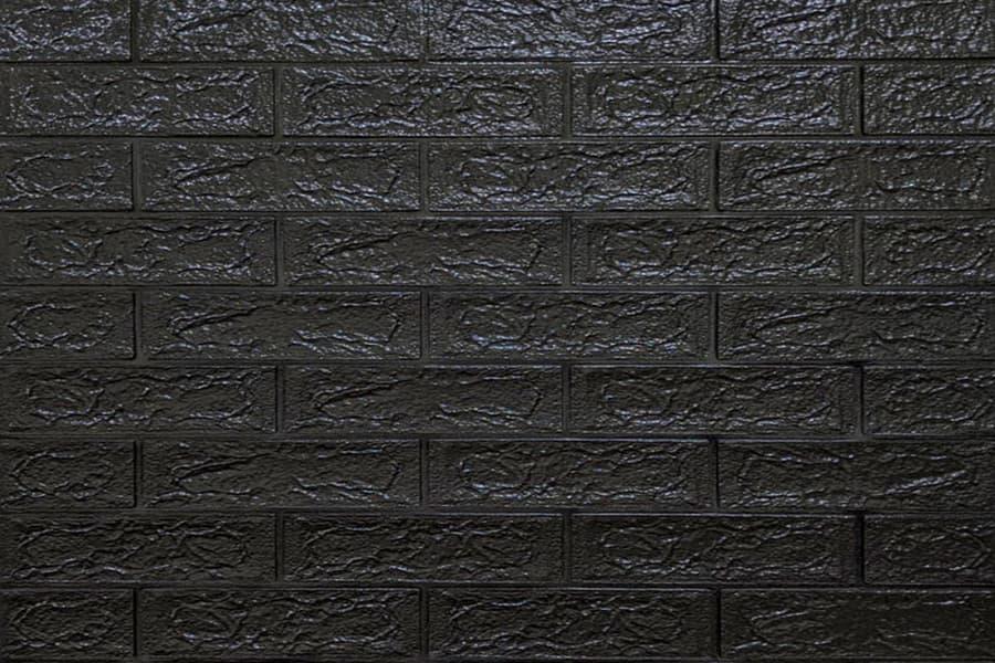 Самоклейка декоративна 3D панель 019-5 під чорну цеглу 700x770x5мм купити Київ в Україні - БудБум