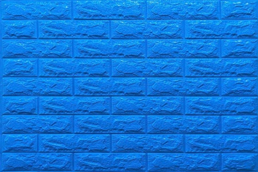Самоклейка декоративна 3D панель 03-7 під синю цеглу 700x770x7мм купити в Україні - БудБум
