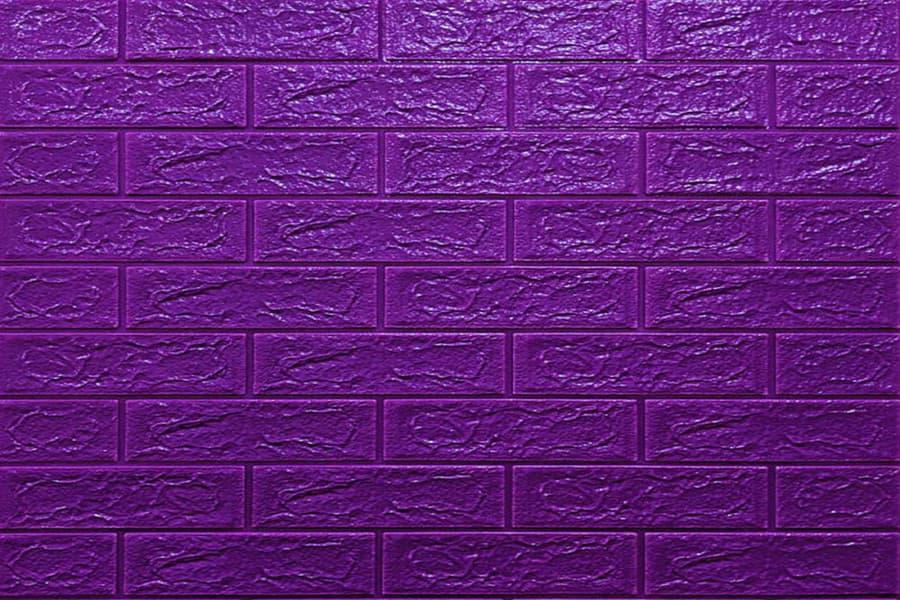 Самоклейка декоративна 3D панель 016-5 під фіолетову цеглу 700x770x5мм купити в Україні - БудБум