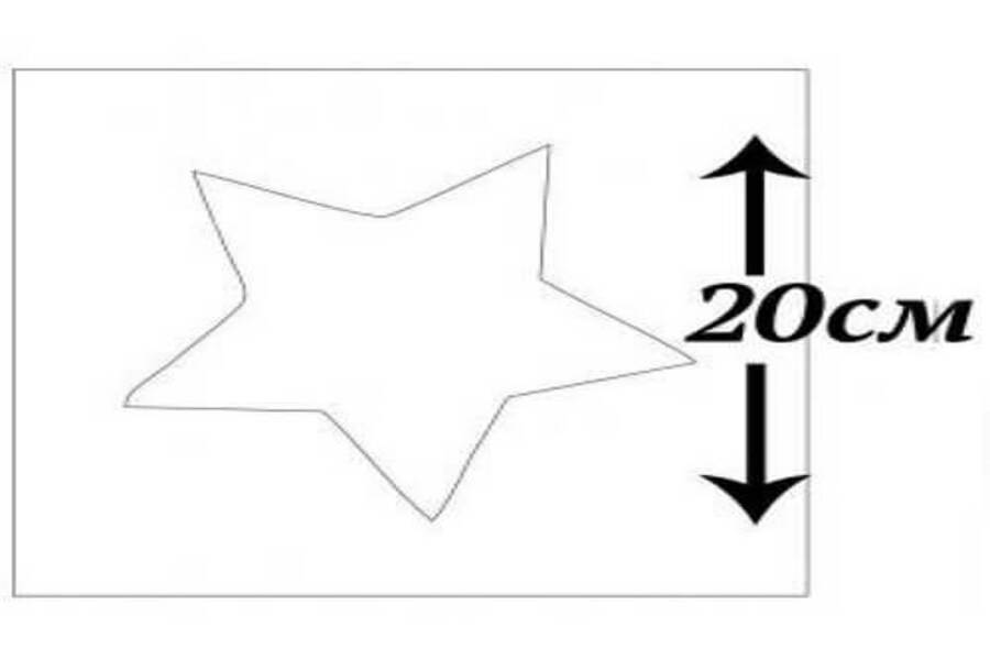 Купити трафарет Зірка 20х20 см, матеріал прозорий пластик.