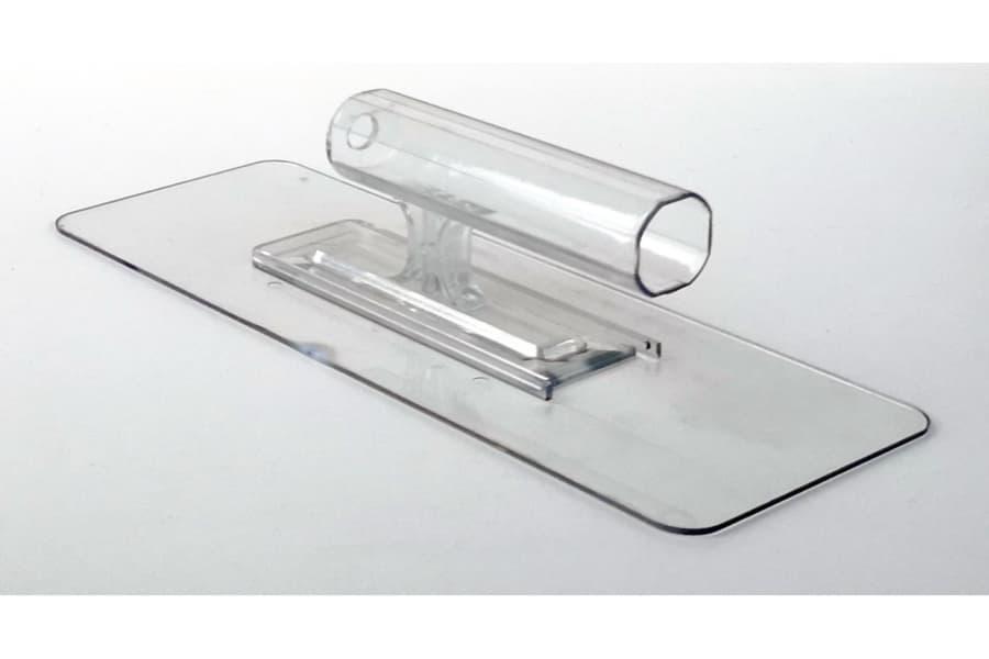 Терка пластикова прозора ТМ Юрські 245х90х3мм для нанесення рідких шпалер