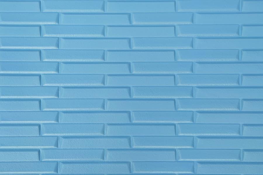Купити самоклеюча декоративна 3D панель 036 кладка блакитний в Україні. Замов зараз. Доступні ціни інтернет магазин БудБум.