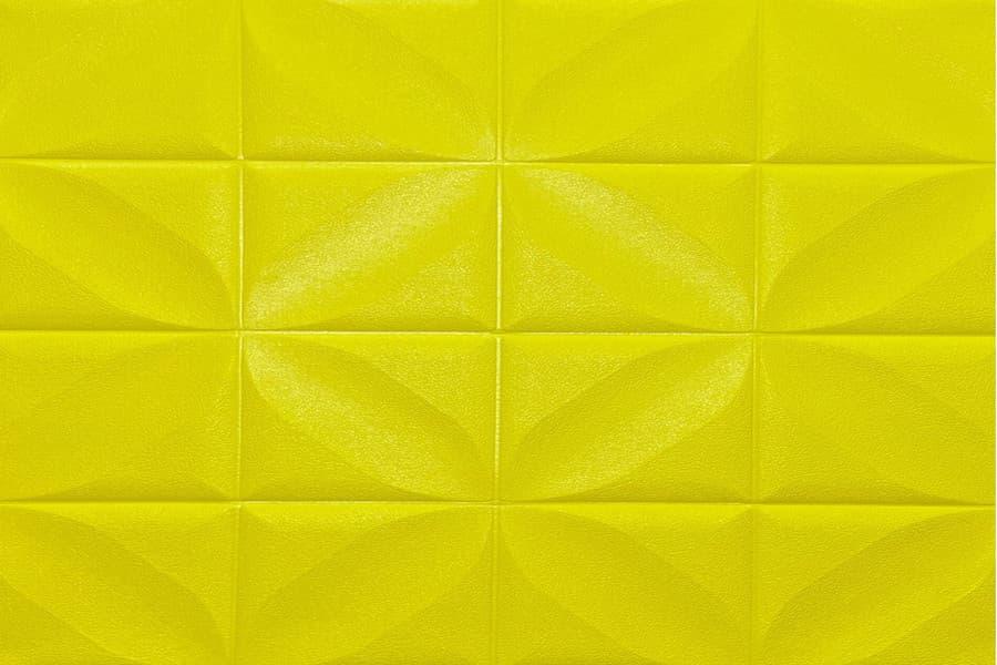 Самоклейка декоративна 3D панель 199 жовта настінна-стельова купити в Україні - БудБум