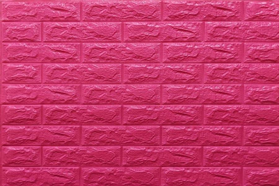 Самоклейка декоративна 3D панель 06-7 під темно-рожеву цеглу 700x770x7мм купити в Україні - БудБум