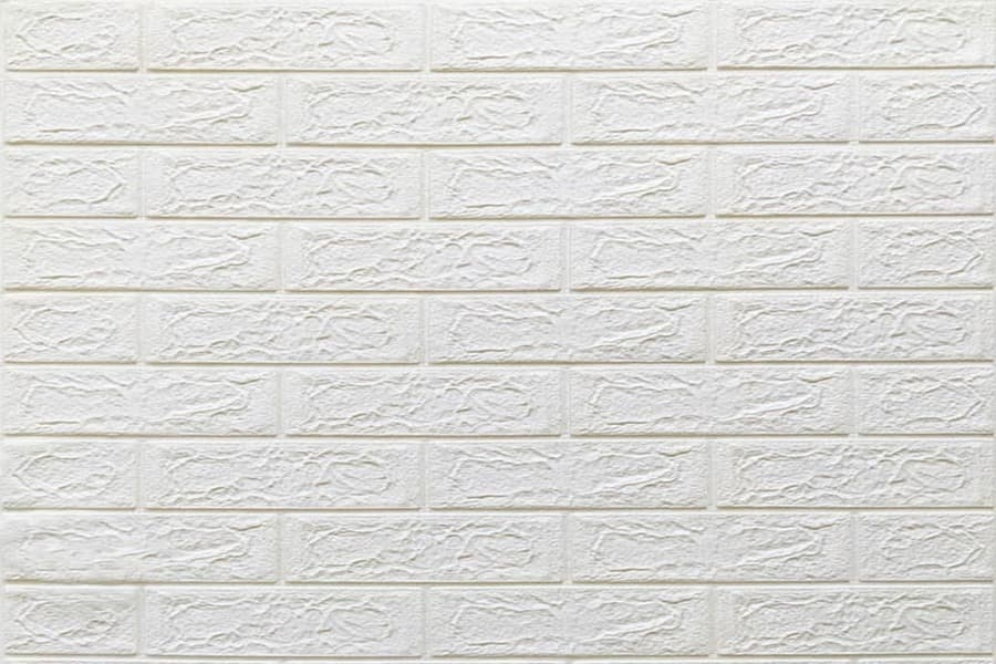 Самоклейка декоративна 3D панель 01-4 під білу цеглу 700x770x4мм купити в Україні - БудБум