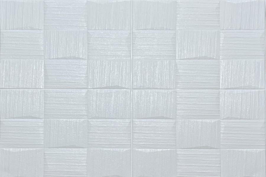 Самоклейка декоративна 3D панель 185 біла настінна-стельова купити в Україні - БудБум