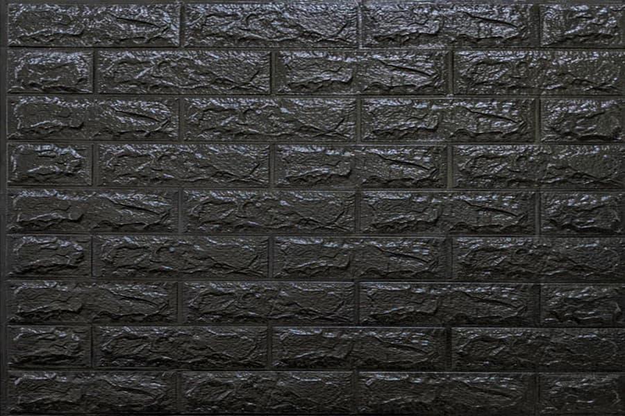 Самоклейка декоративна 3D панель 019-7 під чорну цеглу 700x770x7мм купити Київ в Україні - БудБум