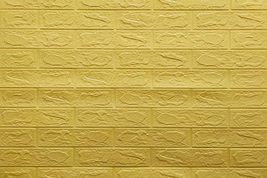 Самоклеящаяся декоративна 3D панель 09-3 жовто-пісочна цегла 700x770x3мм купити в Україні - БудБум
