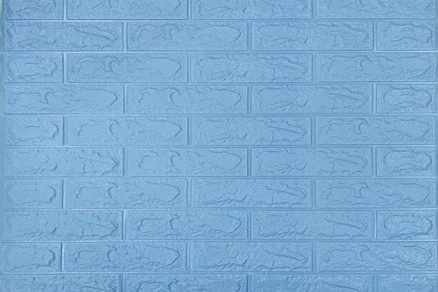Самоклейка декоративна 3D панель 05-5 під блакитну цеглу 700x770x5мм купити в Україні - БудБум