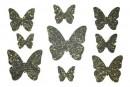 Купити декор з рідких шпалер Метелики 1 набір 9 шт