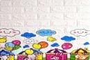 Самоклейка дитяча 3D панель 0102 під цеглу Паровозики 700x770x5мм купити Київ в Україні - БудБум