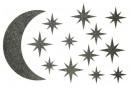 Купити Декор з рідких шпалер Зоряне небо 3 набір 13 шт