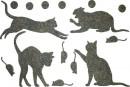Купити Декор з рідких шпалер Коти 3 набір 16 шт