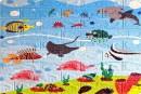 Самоклейка дитяча 3D панель 0103 під цеглу Підводний світ 700x770x5мм купити Київ в Україні - БудБум