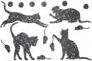 Купити Декор з рідких шпалер Коти 2 набір 16 шт