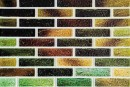 Самоклейка декоративна 3D панель 0141 під цеглу зелений мікс 700x770x5мм купити в Україні - БудБум