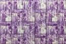 Купити самоклеюча декоративна 3D панель 051 бамбукова кладка фіолетова в Україні. Замов зараз. Доступні ціни інтернет магазин БудБум.