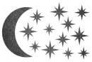 Купити Декор з рідких шпалер Зоряне небо 4 набір 13 шт