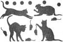 Купити Декор з рідких шпалер Коти 4 набір 16 шт