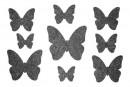 Купити Декор з рідких шпалер Метелики 4 набір 9 шт