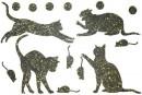 Купити Декор з рідких шпалер Коти 1 набір 16 шт