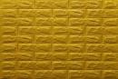 Самоклейка декоративна 3D панель 011-7 під цеглу золото 700x770x7мм купити в Україні - БудБум
