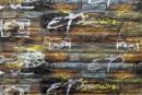 Самоклейка декоративна 3D панель 026 сіро-помаранчевий графіті цегла 700x770x5мм купити Київ в Україні - БудБум