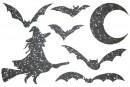Купити Декор з рідких шпалер Хелловін 2 набір 7 шт